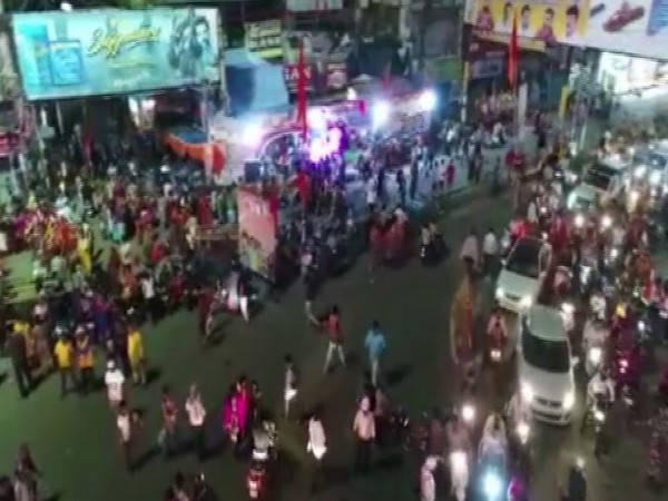 Uttar Pradesh using drone cameras to aerially monitor the movement the devotees. Photo/ANI