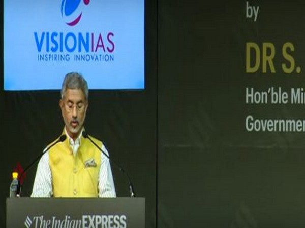 External Affairs Minister S Jaishankar delivering a memorial lecture in Delhi on Thursday. y