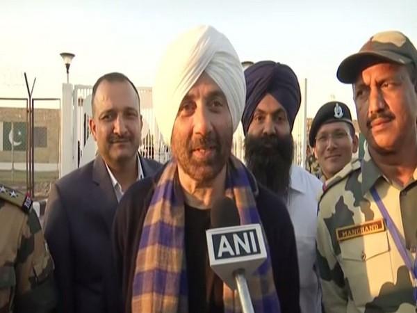 BJP MP from Gurdaspur, Sunny Deol speaking to ANI in Gurdaspur, Punjab on Saturday. (Photo/ANI)