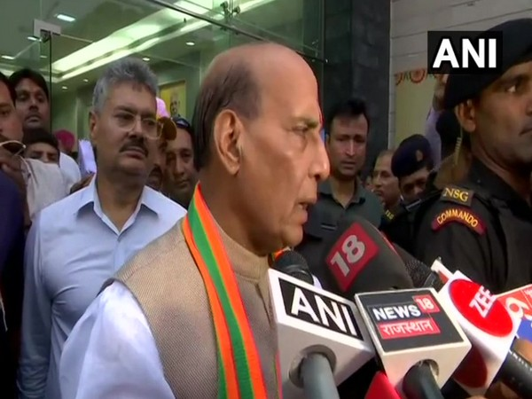 Defence Minister Rajnath Singh hails UNESCO's move to declare Jaipur as 'World Heritage Site' (Photo/ANI)