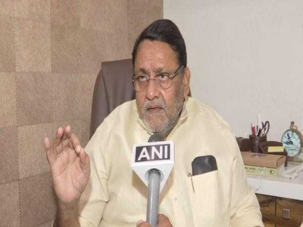 Nationalist Congress Party (NCP) spokesperson and minister Nawab Malik speaking to ANI on Thursday (Photo/ANI)