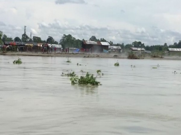 Visual from Dadhia village, Dibrugarh (Photo/ANI)
