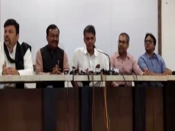 Congress leader Manish Tiwari while speaking to the reporters in Nagpur on Wednesday (Photo/ANI)