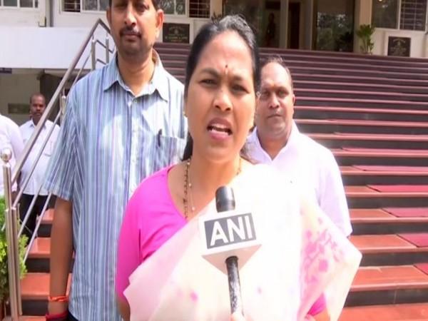 BJP MP Shobha Karandlaje speaking to ANI on Monday. Photo/ANI