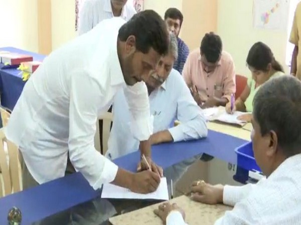 YSRCP chief Jagan Mohan Reddy filed his nomination on Friday. Photo/ANI