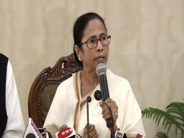West Bengal Chief Minister Mamata Banerjee while addressing the media persons on Tuesday. (Photo/ANI)