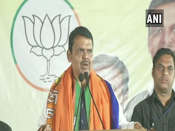 Chief Minister Devendra Fadnavis while addressing a election rally in Nagpur, Maharashtra (Photo/ANI)