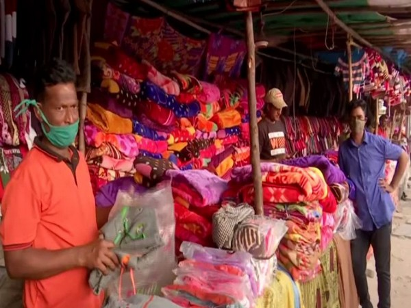 Visual from a winter clothing stall in Hyderabad (Photo/ANI)