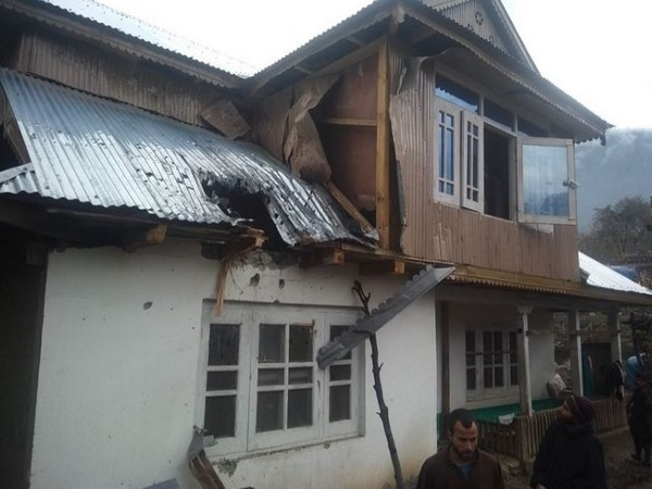 Civilian houses damaged in the Tangdhar sector in unprovoked mortar shelling (Photo/Indian Army)