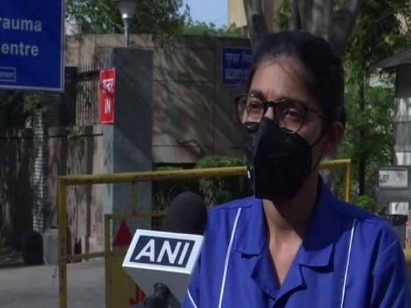 Ramandeep Kaur, a senior nursing officer at AIIMS Delhi while speaking to ANI on Monday (Photo/ANI)
