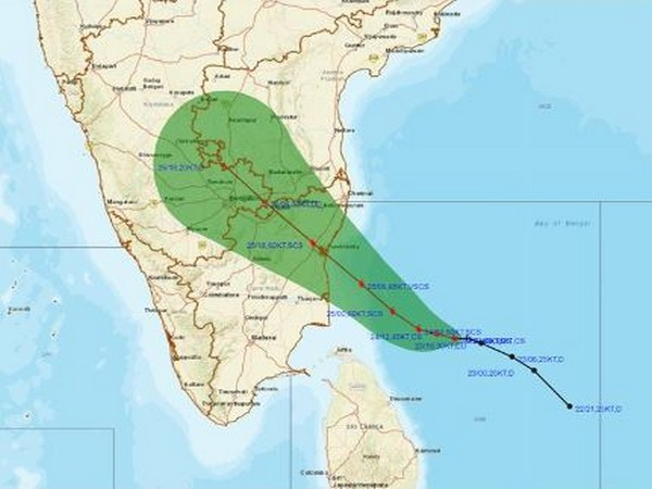 Cyclone Nivar will cross Tamil Nadu-Puducherry coasts between Karaikal and Mamallapuram tomorrow evening (Photo/IMD)