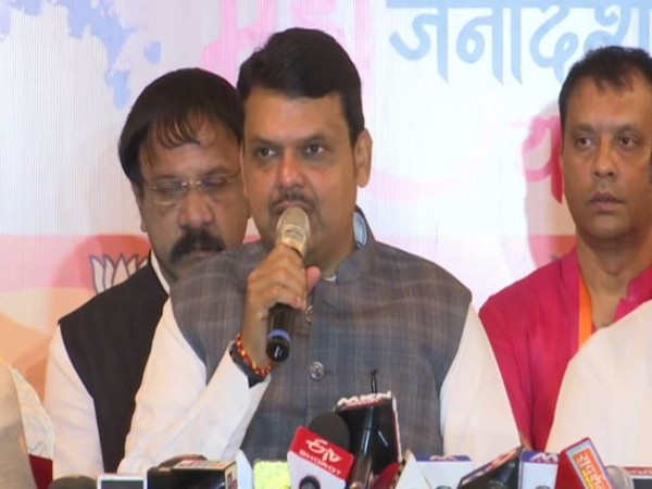 Maharashtra Chief Minister Devendra Fadnavis speaking to media persons in Pune on Sunday. Photo/ANI