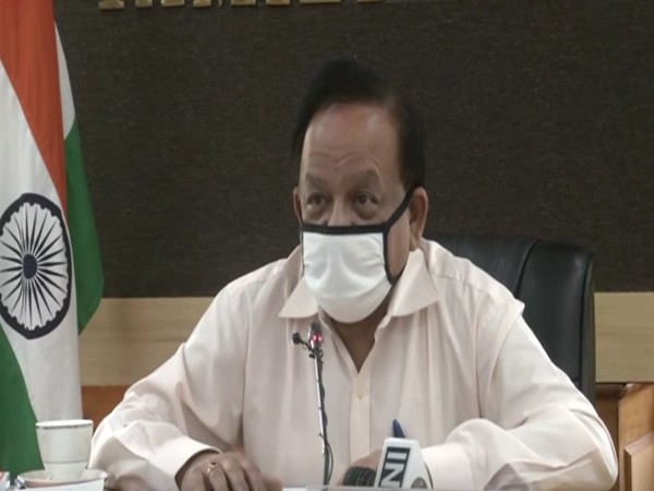 Union Health Minister Dr. Harsh Vardhan during the meeting (Photo/ANI)