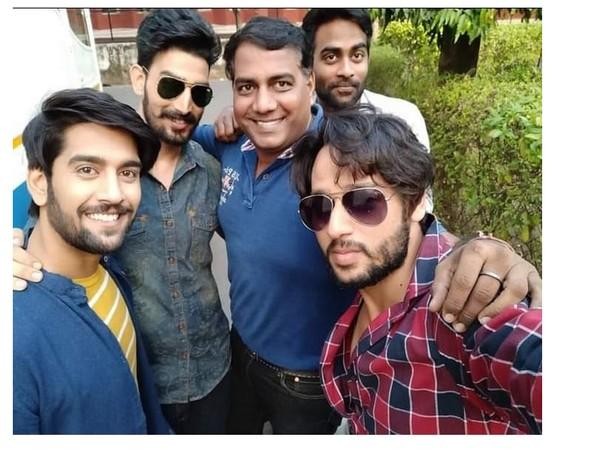 From Left - Ankit, Basant, Producer Rajesh Singh, Music director Aditya and Himanshu