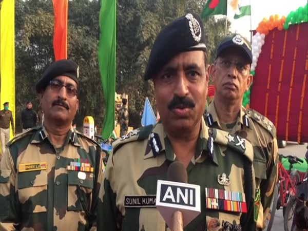 Sunil Kumar, IG, BSF North Bengal Frontier in conversation with ANI. (Photo/ANI)