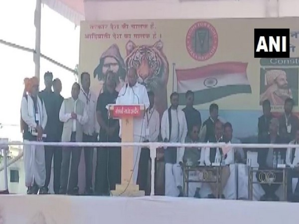NCP chief Sharad Pawar in Indore on Sunday (Photo/ANI)