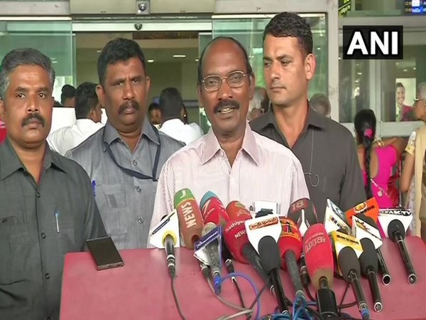 ISRO chief K Sivan while addressing media persons on Sunday in Chennai. Photo/ANI