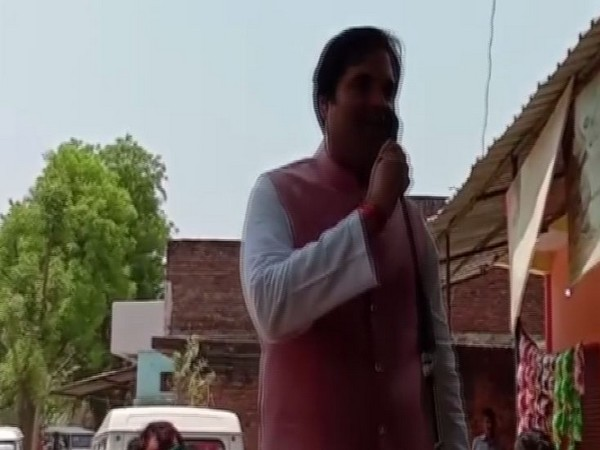 BJP leader Varun Gandhi addressing an election rally in Sultanpur, Uttar Pradesh. Photo/ANI