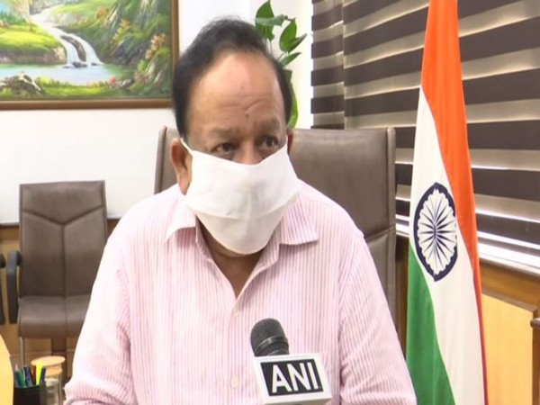 Union Health Minister Dr. Harsh Vardhan speaking to ANI on Friday (Photo/ANI)