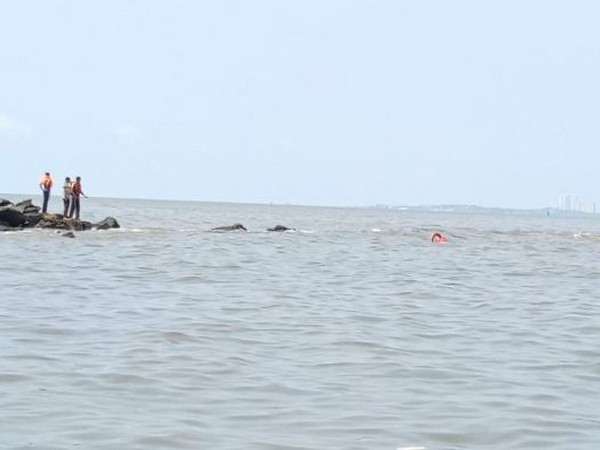 Search operation being conducted for a boy who drowned at Bandra Bandstand earlier today. (Photo/ANI)