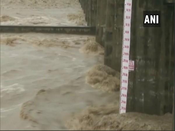 The river rising in Yamuna Nagar on Sunday.