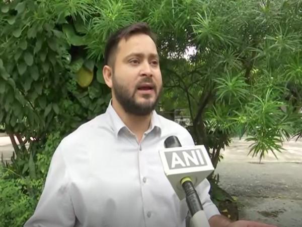 RJD leader Tejashwi Yadav speaking to ANI in Patna on Friday (Photo/ANI)