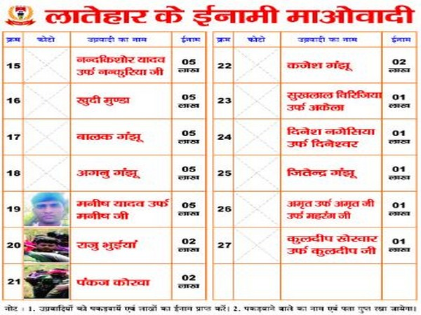 Poster released by Latehar police (Photo/ANI)