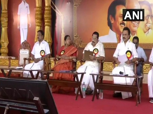 DMK president MK Stalin chaired party's general council meeting at YMCA Ground in Chennai (Photo/ANI)