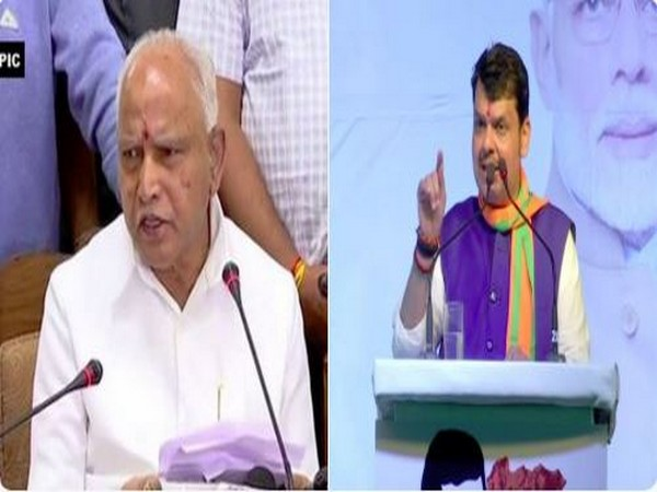 B S Yediyurappa (L) and Maharashtra CM Devendra Fadnavis (R)