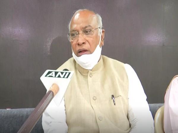 Congress General Secretary Mallikarjun Kharge during a press conference in Bengaluru (Photo/ANI)