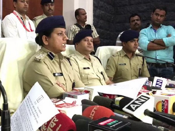 Indore's SSP Ruchi Vardhan Mishra addressing media persons on Thursday. Photo/ANI