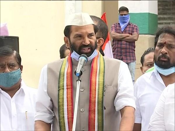 Telangana Pradesh Congress Committee President Uttam Kumar Reddy (Photo/ANI)