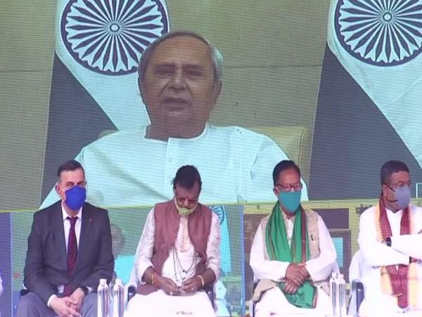 Odisha Chief Minister Naveen Patnaik launched Bindu Sagar Cleaning Project virtually on Saturday (Photo/ANI)