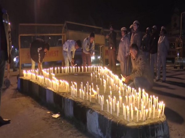Visual from the candlelight vigil on Friday evening in Imphal. Photo/ANI