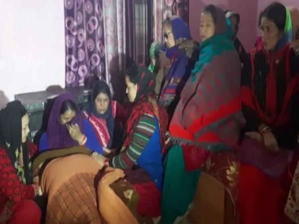 Grieving family of Indian Army Havildar Rajendra Singh Negi.