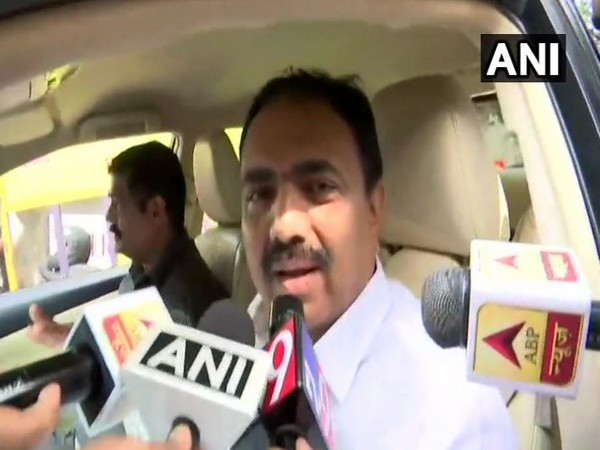 NCP leader Jayant Patil while speaking to the media persons in Mumbai on Thursday (Photo/ANI)