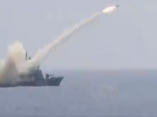Anti-ship missile (AShM) launched by Indian Navy Missile Corvette INS Prabal
