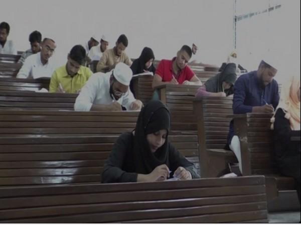 Candidates writing enterance exam for bridge course at AMU. [Photo/ANI]