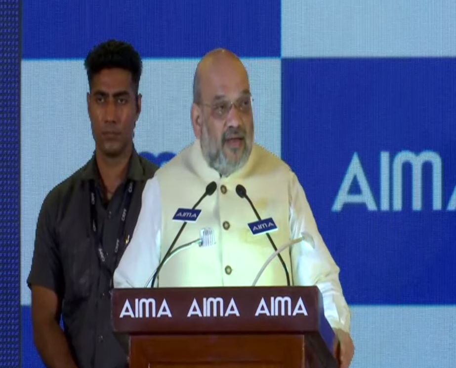 Union Minister AMit Shah speaking at an event in New Delhi on Tuesday. (Photo/ANI)