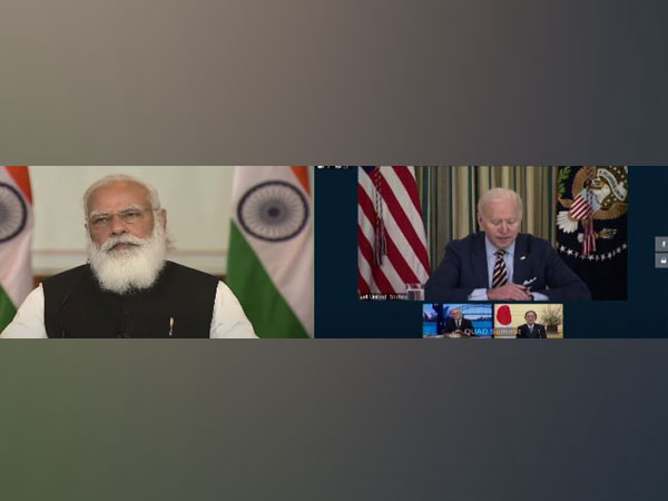 Prime Minister Narendra Modi and US President Joe Biden during the first Quad meet on Friday.