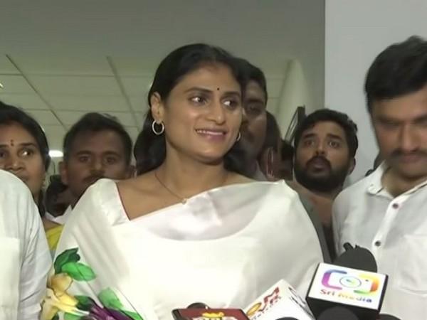 YS Sharmila, sister of present Andhra Pradesh Chief Minister YS Jagan Mohan Reddy (Photo/ANI)