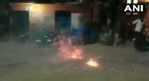 Residents of Sathankulam celebrate the arrest of Tuticorin custodial death accused on Wednesday.