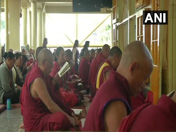 Tibetans in-exile organized a special prayer service for Guru Padmasambhava and for the long life of the Dalai Lama. (Photo/ANI)