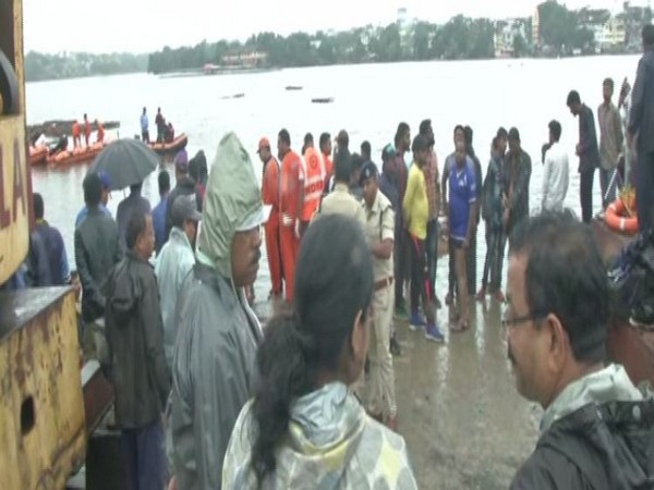 At least 16 people drowned during Ganesh immersion in Bhopal on Friday. (Photo/ANI)