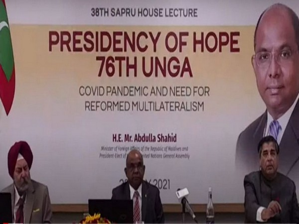 President-elect of 76th UN General Assembly praises India for suppling vaccines and essential medicines to world [Credits: MEA YouTube]