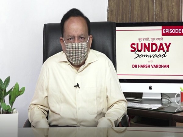 Union Health Minister Dr Harsh Vardhan during Sunday Samvaad (Photo/ANI)