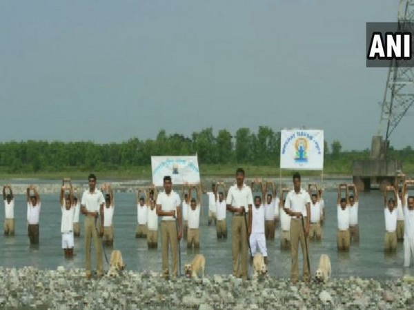 ITBP personnel perform yoga with dogs ahead of International Yoga Day