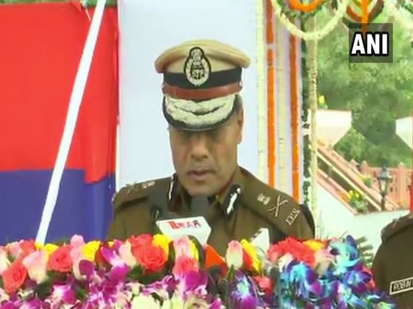 Outgoing Delhi Police Commissioner Amulya Patnaik at his farewell ceremony on Saturday. Photo/ANI