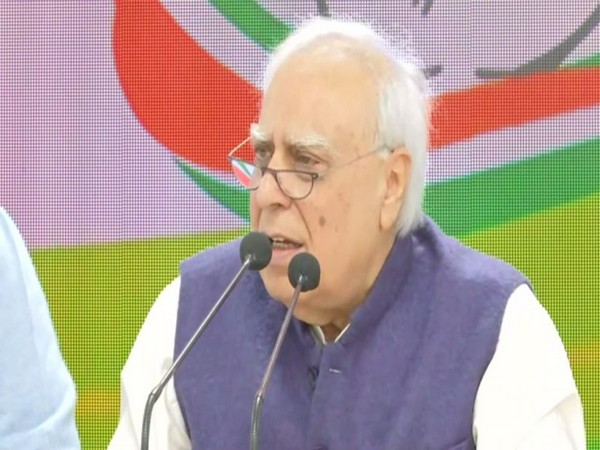 Congress leader Kapil Sibal while speaking to the reporters on Friday (Photo/ANI)