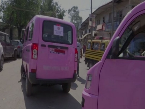 Six pink vehicles launched under the campaign Beti Bachao Beti Padhao, to mark the international Girl Child Day, 2019. (Photo/ANI)